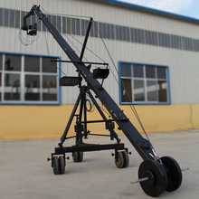 Original 8 meter 130mm triangle camera jimmy jib crane with 2 axis PTZ head