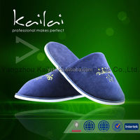 Terry cloth hotel slippers with sponge heel/cloth closed toe cheap hotel slippers/Top Grade hotel customized guest slipper