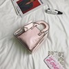best seller candy color woman handbag closure felt transparent crystal bag