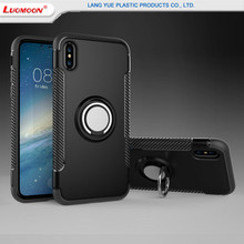 2018 TPU+PC Armor Cover Mobile Phone Case For iPhone X/Ten, 360 Degree Rotating Finger Ring Holder Cell Phone Cases