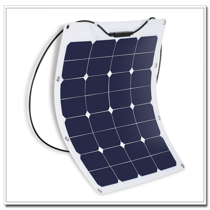 50w High Quality Etfe Laminated Semi Flexible Solar Panel For Car Roof,Wing,Street Light,Home Use