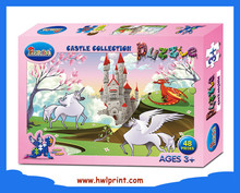 2015 High Quality Kids Paper Toy Jigsaw Fairyland Castle Puzzle