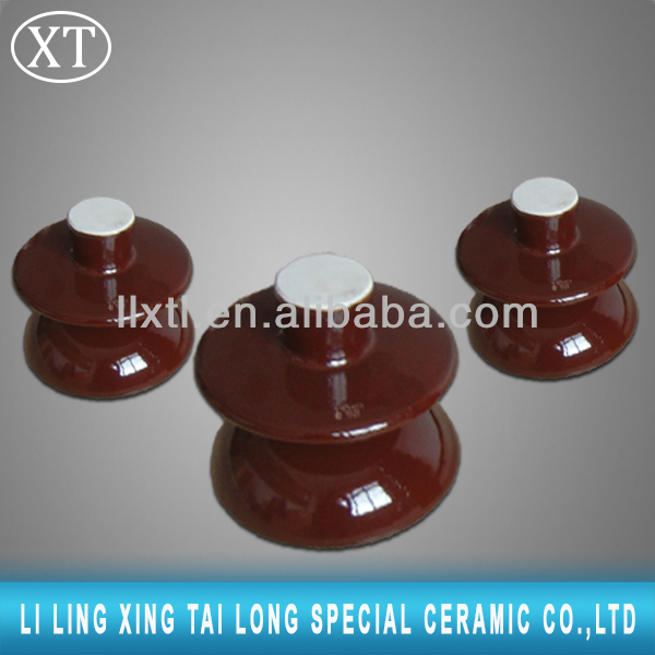 Insulators for electric fence ANSI 53-1 porcelain spool insulators