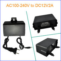 Rainproof& Switching 220V 12V Power Adapter, with European&USA Plug for CCTV Camera