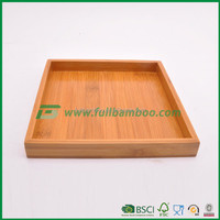 FB1-3083 hot sales square bamboo serving trays gongfu tea tray