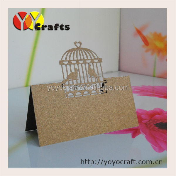 latest wedding favors wedding place cards with birdcage