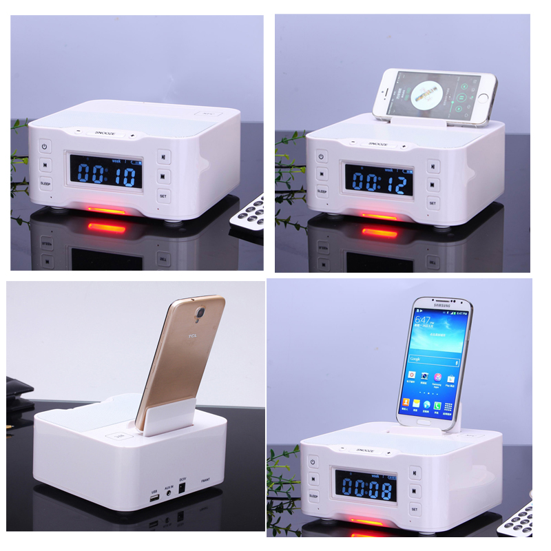 Wireless Speaker sound With Dock charging station, Radio speaker, Alarm speaker for iPhone 6, 5S, iPad, iPod, Samsung