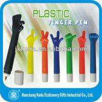 2013 cute five hand different gesture ballpoint pen for kids