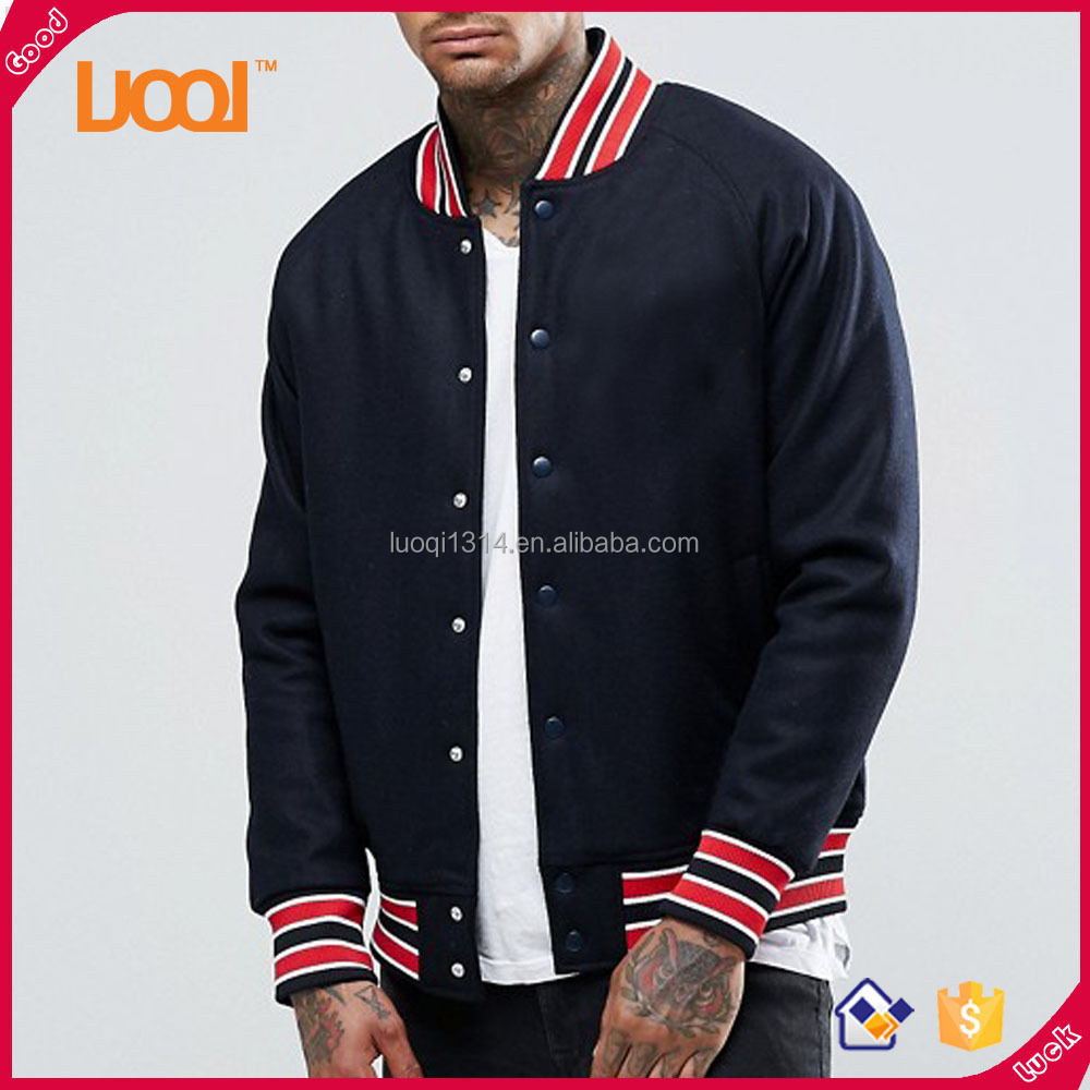 Hot Selling High Quality Winter Windproof Baseball Navy Blue Jacket Men Outdoor