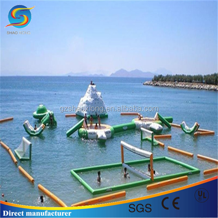 Customized inflatable towable water sports products, inflatable water island for sale