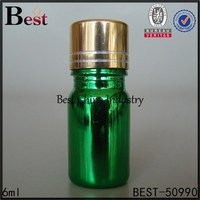 6ml green Best Spa oil bottle Supplies, Personal Care Essential bottle with metal screw