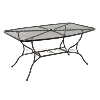 Metal Mesh Big Rectangular Patio Garden Dining Table