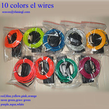 2nd generation multi colors el wire for car decoration ,el wire neon rope light