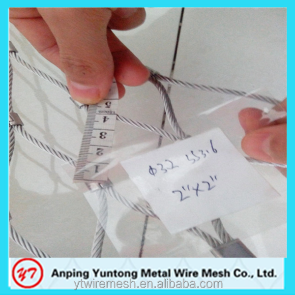 7*7 stainless steel wire rope mesh for green facade system