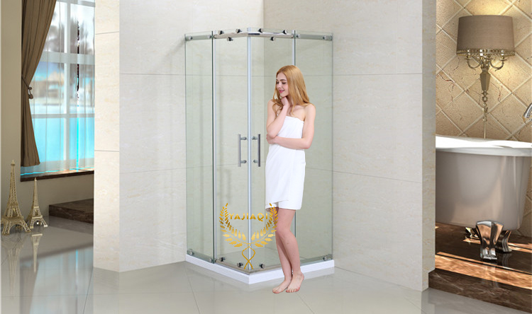 2 sided mini china shower quadrant enclosure cubicle with square shape