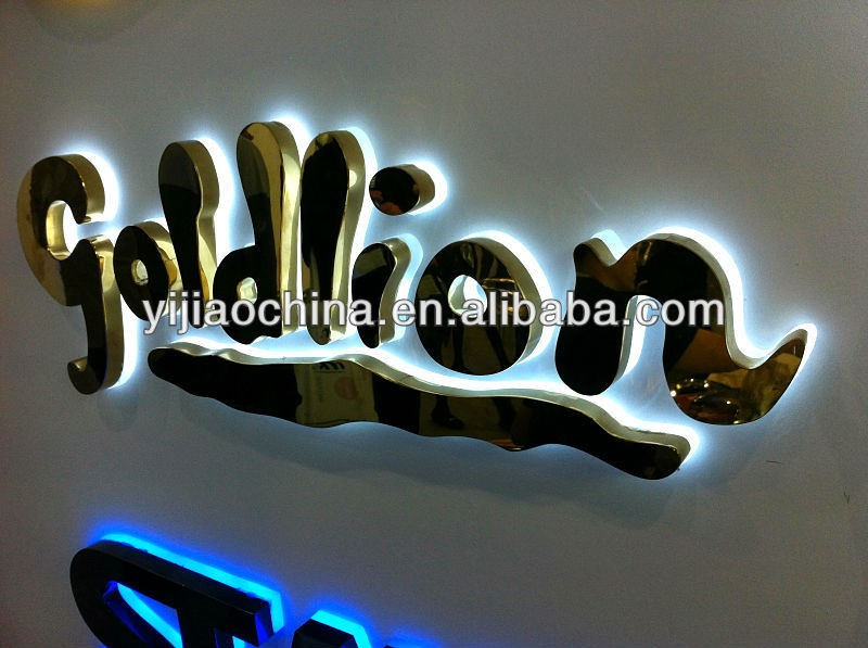 Advertising outdoor lighted 3d logo sign board 3d channel letter