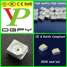 High Quality High lumens 3528 smd led datasheet/specifications CE&RoHS