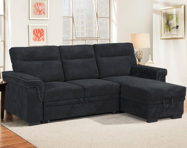 Black Velvet Storage furnitures house l shape beds <strong>sofa</strong>