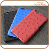 Ostrich leather case slim back mobile cell phone case waterproof Cover Genuine leather case for iPhone 5/5S/6/6S/6 Plus