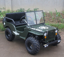 new absorber 150cc mini gas jeep willys 4x4 for kids