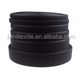 Nylon black hooks and loops tape fasteners manufacturers