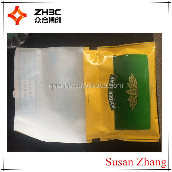 50g plastic hand rolling zipper tobacco pouch bags