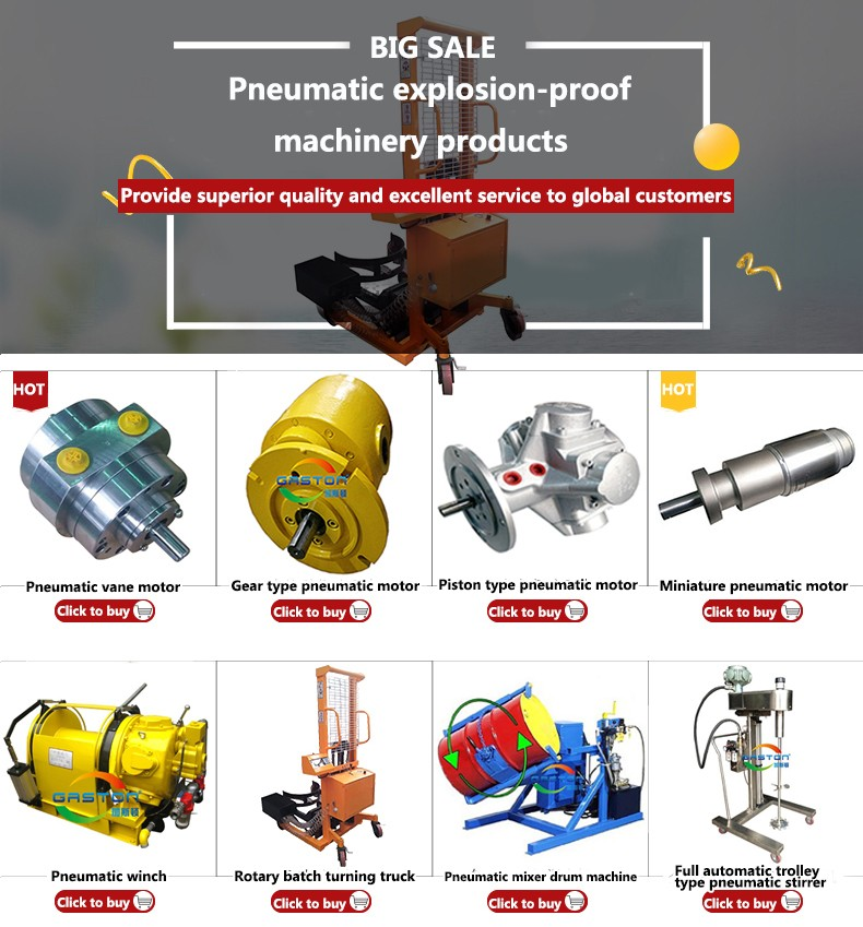 China good quality high-precision pneumatic motor with high torque at a low price GT100S 330RPM 150NM