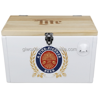 Retro Chest Cooler beer cooler 25L aluminum bee cooler