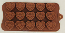 Hot sell silicone 3d chocolate mold