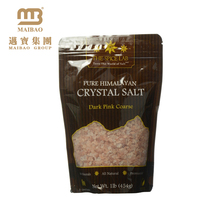 Reclosable Strong Sealing Matt Finishing Custom Printed Stand up Plastic Ziplock Bags for Salt Packaging