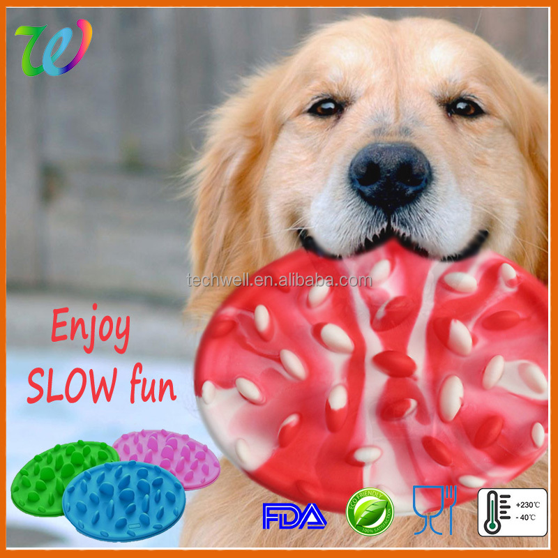 2016 best selling silicone slow pet feeder slow eat dog bowl pet dish large