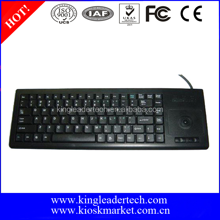 High Quality Low Cost Industrial Keyboard with Trackball