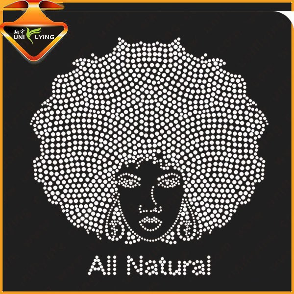 Bling Afro Girl AKA Rhinestone Transfer for T shirts
