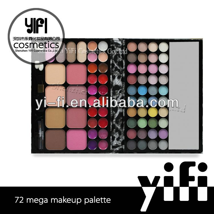 Tz 72 color makeup set eyeshadow blush lipgloss leopard yellow eye shadow