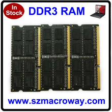 Low price 1600mhz pc3-12800 laptop / notebook ddr3 4gb 8gb ram memory