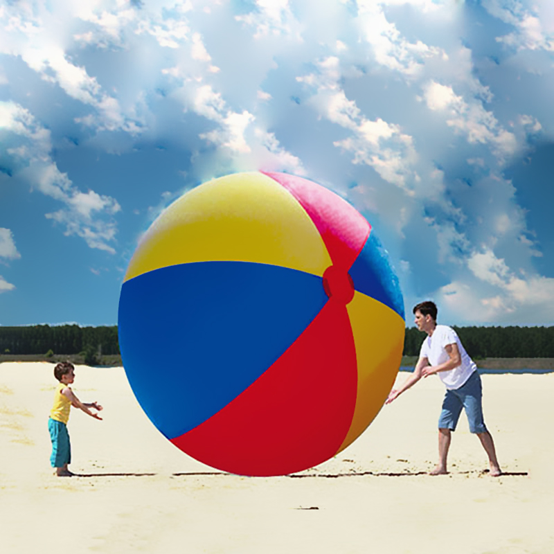Giant 2M Inflatable Toys Ball Inflated Beach Balls Outdoor Fun Sport Toys Thicken PVC Water Toys for Swimming Party Game Props