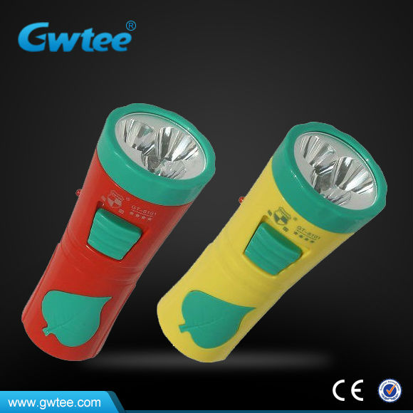 Factory wholesale 2W plastic rechargeable torch flashlights, linternas LED
