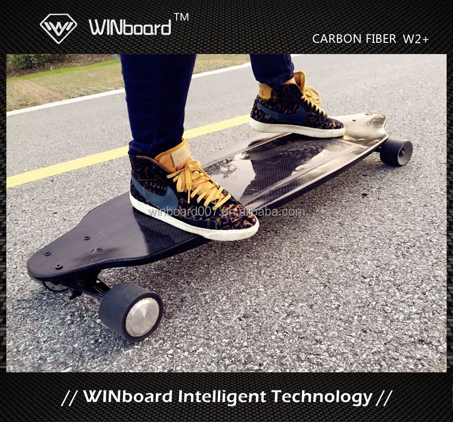 WINboard 1600w electric carbon fiber board skate hub motor in wheels electronic control board wireless remote skate long board