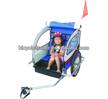 2-in-1 baby bike trailer and pet trailer function