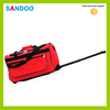 "China supplier high quality red 21"" travel trolley luggage bag for women,wholesale waterproof wheeled duffle bag"
