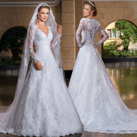 C71569A Sexy See Through Corset Transparent Alibaba Long Sleeve Lace Wedding Dresses