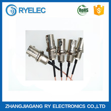 BNC female crimp connectors for bulkhead mount cable,RG178 cable--U.FL