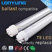 North American Market T8 electronic ballast compatible t8 led tube 2FT 3FT 4FT with ETL