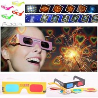 paper 3d glasses cheap heart/fireworks/christmas tree/snowman diffraction glasses with custom logo