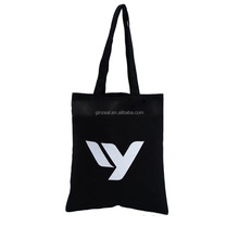 Wholesale standard size black cotton canvas tote bag