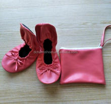 Free Shipping Low Price Roll Up Ballerina Wedding Slippers With Bag