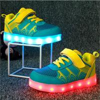 Night Walking Children Shoes Led Lights Kids Shoes Led Sneaker Zapatos de LED Casual Led Child Sport Shoes