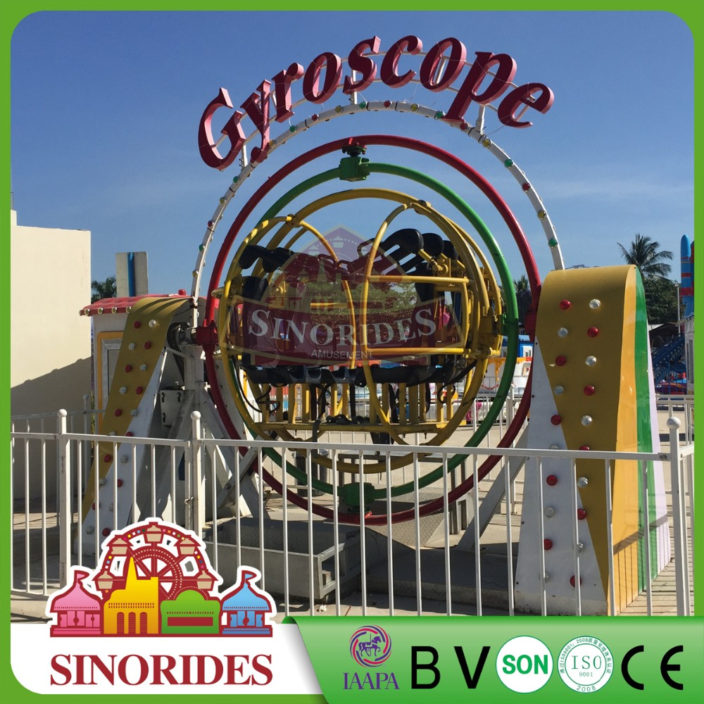 Attraction Gyroscope Manufacturers Swonder Rides 2/4 Seats Human Gyro For Parks