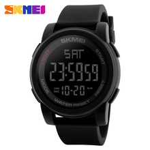 skmei 1257 sport digital man watch black