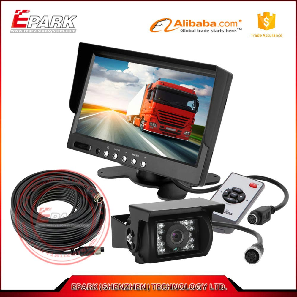 7 inch monitor system with reverse car rearview camera backup